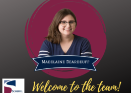 """Madelaine Deardeuff, with tagline """"Welcome to the Team"""""""